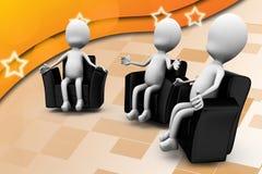 3d man debate illustration Royalty Free Stock Images