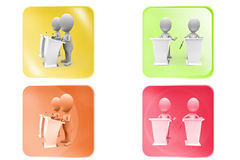 3d man debate speech icon Stock Image