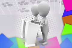 3d man debate speech illustration Royalty Free Stock Photo