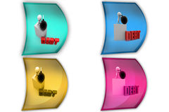 3d man debt bomb icon Royalty Free Stock Photography
