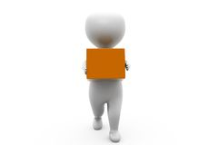 3d man delivery box concept Royalty Free Stock Photos