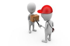 3d man delivery man concept Stock Image
