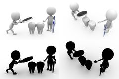 3d man dental Concept Collections With Alpha And Shadow Channel Stock Image