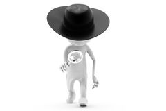 3d man detective concept Royalty Free Stock Photo
