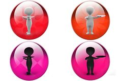 3D Man dish concept icon Stock Photo