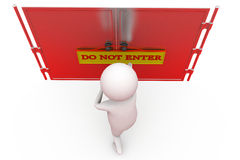 3d man do not enter concept Royalty Free Stock Images