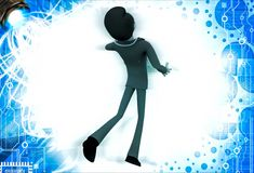 3d man doctor jump in happiness illustration Royalty Free Stock Photo
