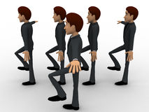 3d man doing march in full rythm concept Stock Image