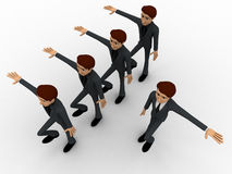 3d man doing march in full rythm concept Royalty Free Stock Images