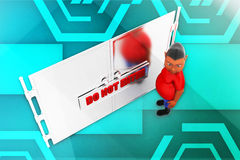 3d man dont enter illustration Stock Photography