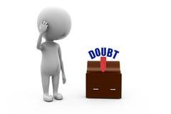3d man doubt concept Stock Photo