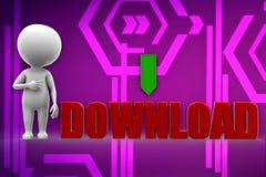 3D man download illustration Royalty Free Stock Images