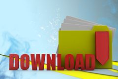 3D man download Illustration Royalty Free Stock Photos