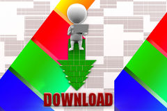 3D man download Illustration Stock Photos