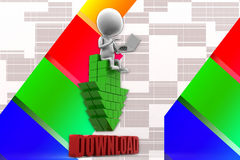 3D man download Illustration Royalty Free Stock Image