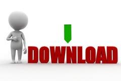 3D man download Stock Photo