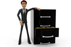3d man drawer concept Royalty Free Stock Images