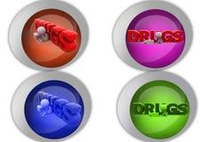 3d man drug icon Royalty Free Stock Image