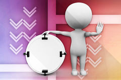 3d man drum illustration Royalty Free Stock Photography