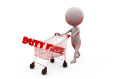 3d man duty free concept Royalty Free Stock Photography