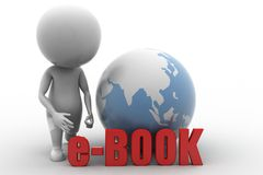3d man e-book concept Stock Photography