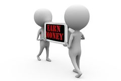 3d man earn money concept Royalty Free Stock Images