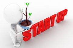 3d man eco start up concept Stock Images