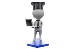 3d man education cap concept Stock Photo