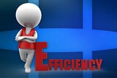 3d man efficiency illustration Royalty Free Stock Photos