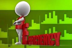 3d man efficiency illustration Royalty Free Stock Photography