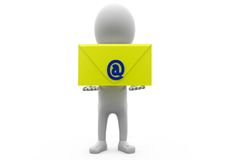 3d man email concept Royalty Free Stock Photo
