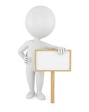 3d man with empty board Stock Photo