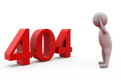 3d man with 404 error concept Royalty Free Stock Photography