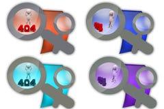 3d man error 404 icon Royalty Free Stock Photo