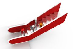 3d man escalator concept Royalty Free Stock Image