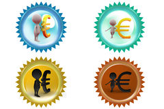 3d man euro icon Royalty Free Stock Images
