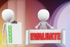 3d man evaluate illustration Royalty Free Stock Photos