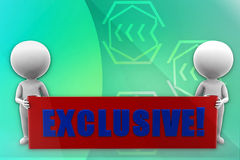 3d man exclusive illustration Royalty Free Stock Images