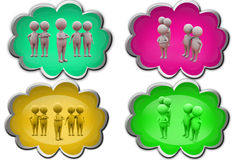 3d man expert group icon Royalty Free Stock Images