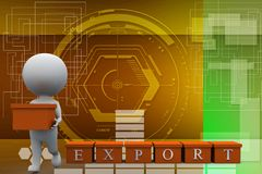 3d man export illustration Royalty Free Stock Images