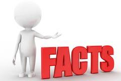 3d man with facts Stock Photos