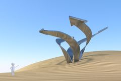 3D man - fantasi Arkivfoton