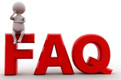 3d man FAQ concept Stock Photo