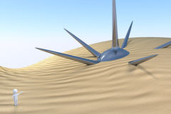 3D man - farlig upptäckt Arkivfoton
