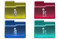 3d Man father son concept icon Royalty Free Stock Images