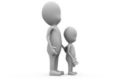3d man father son concept Royalty Free Stock Photography