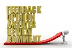 3d man feedback opinion answer review comment Royalty Free Stock Image