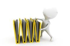 3d man files concept Stock Image