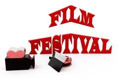 3d man film festival concept Stock Photography