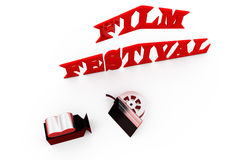 3d man film festival concept Royalty Free Stock Image